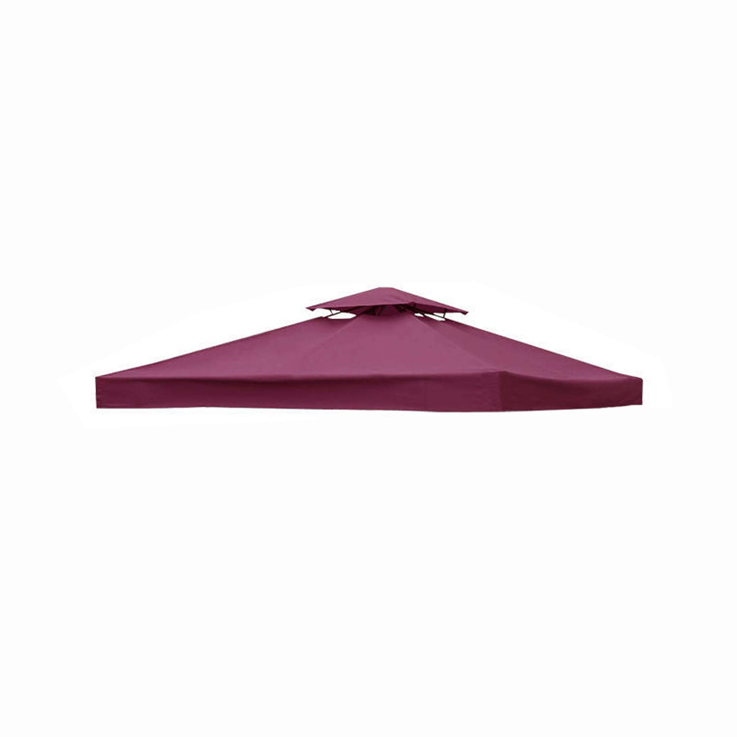 furniture-uk-shop 3x3m Garden Gazebo Top Cover Roof Replacement Fabric Tent Canopy (2-Tier, Wine)
