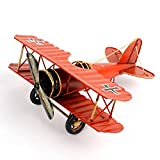 HUIPEN Retro Wrought Iron Aircraft Handicraft The Best Choice for Photo Props Christmas Gift Home Decor Ornament Souvenir Study Room Desktop Decoration(Red)