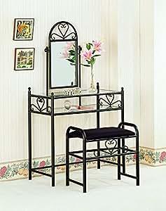 Coaster Vanity Table Set in Black