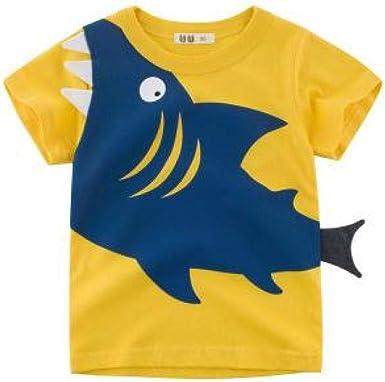 Los niños Usan Ropa para niños Coreanos Verano Niños Camiseta de Manga Corta Camisa de algodón Ropa Interior: Amazon.es: Ropa y accesorios