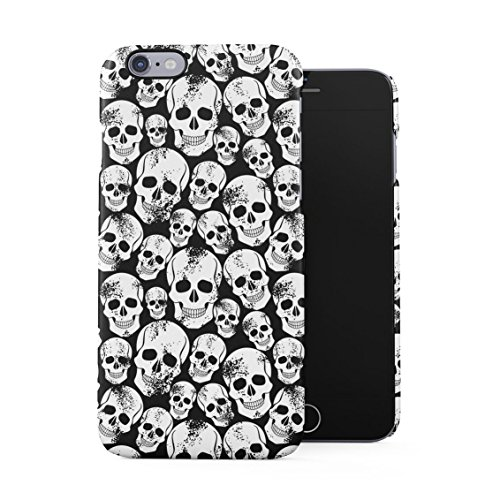 Grunge Gothic Skeleton Punk Rock Mini Skulls Pattern Plastic Phone Snap On Back Case Cover Shell for iPhone 6 & iPhone 6s ()