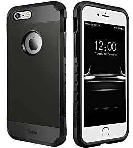 iPhone 6S Plus Case, iPhone 6 Plus Case, Dual Layer Heavy Duty Rugged Protective Case for iPhone 6S Plus & iPhone 6 Plus 5.5 inch - Matte Black