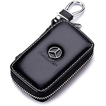 Amazon.com: YIKA Genuine Premium Leather Key Fob Cover for ...