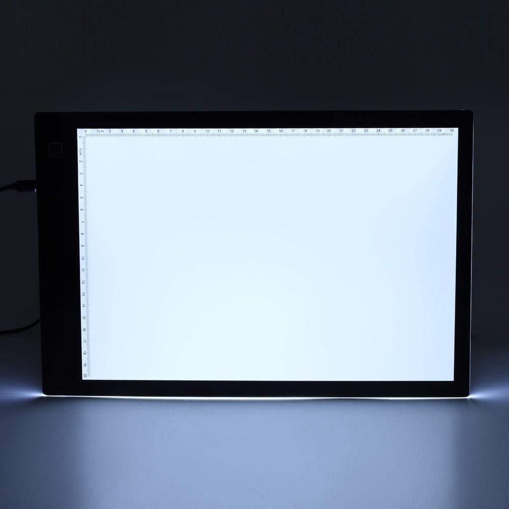 Zerone A3//A4 Tracing Light Box Luminosit/à Regolabile Ultrasottile Presa USB con Una Adattatore di Alimentazione A2