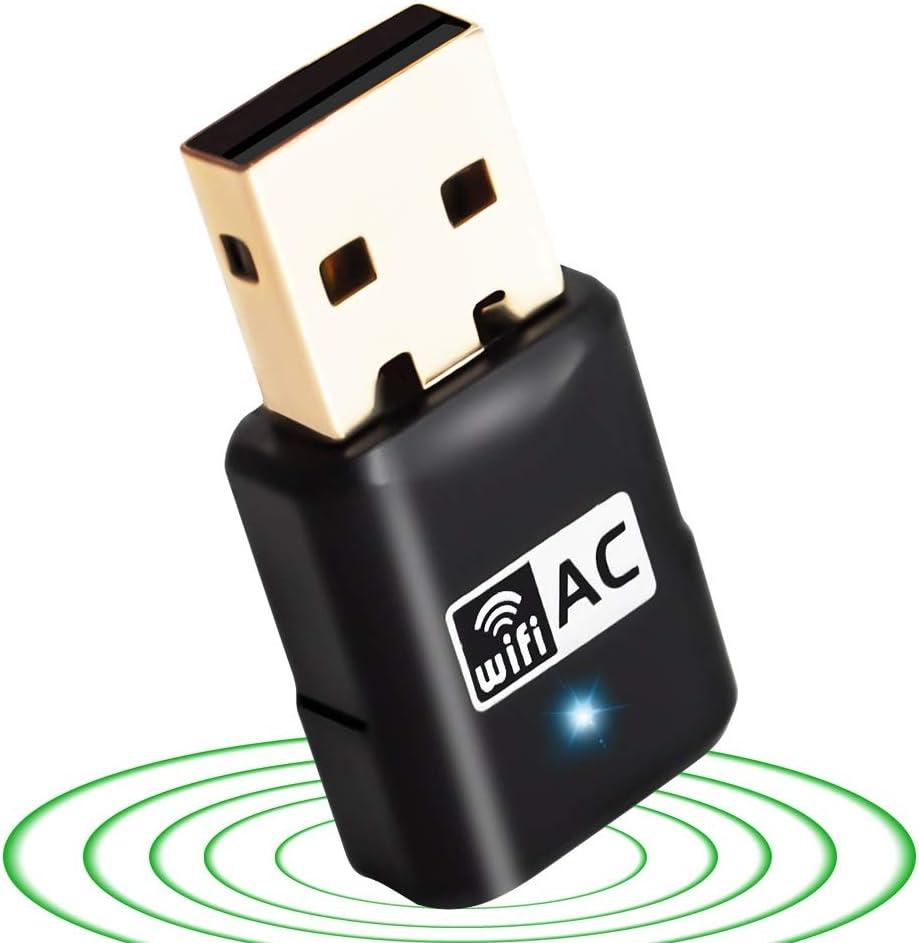VOODA USB WiFi Adapter Mini AC 600Mbps Dual Band(2.41G/150Mbps+5.8G/433Mbps) Wireless USB Network Adapter WiFi Dongle for Desktop Laptop PC Windows 7/8/8.1/10/XP/Vista,Lunix,Vista (AC600M-Mini)