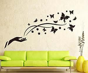 Negro Mariposas Vinilo Adhesivo Para Pared Home Adhesivo De Papel