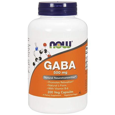 NOW Foods - GABA con vitamina B-6 500 mg. - 200 cápsulas