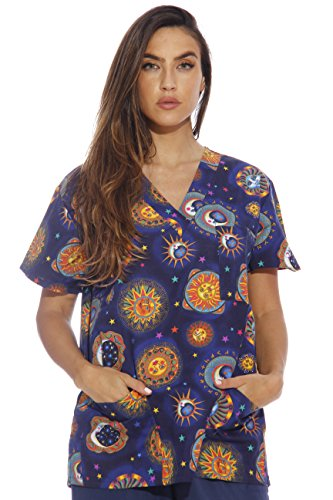 216V-20-XS Just Love Women's Scrub Tops / Holiday Scrubs / Nursing - Scrub Cute