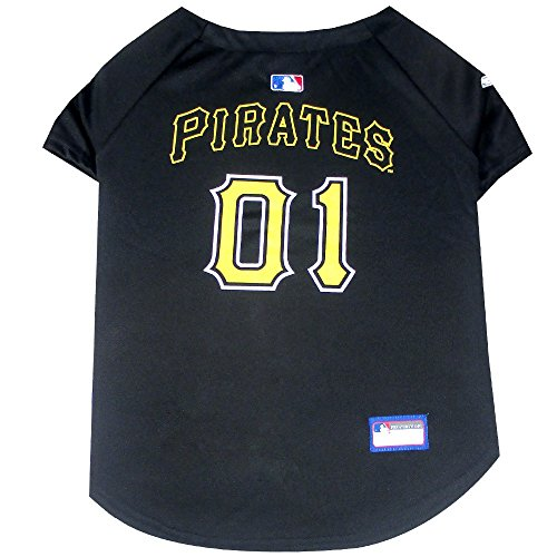 Pets First MLB Pittsburgh Pirates Dog Jersey, Medium