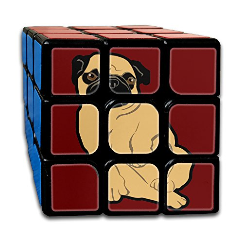 Sweetie Pug 3x3 Smooth Speed Magic Rubiks Cube Puzzle Cube Puzzles (Yellow Rat Snake)