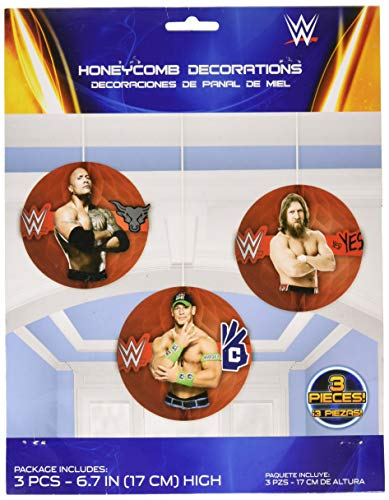 Amscan WWE Party Honeycomb Decorations, Party