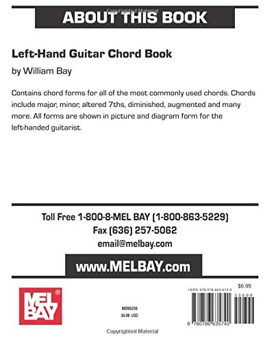 Mel Bay Left Hand Guitar Chord Book William Bay 0796279050395
