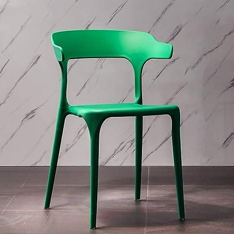 Amazon.com: LZMXYZ Silla de comedor moderna minimalista de ...