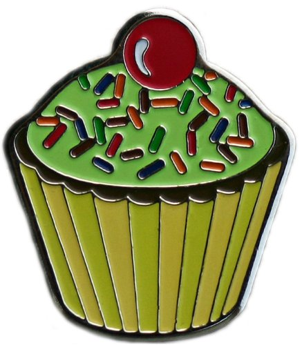 Celestrial Pistachio Chocolate Delight Cupcake Golf Ball Marker with Sprinkled with Fun Hat Clip