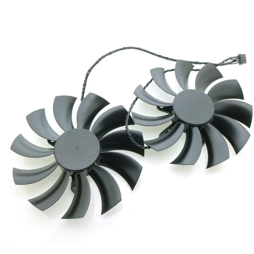 iHaospace Video Card Cooling Fan for EVGA GTX1070 GTX1080 Graphics Card Fan 12V 0.55A 4 Pin