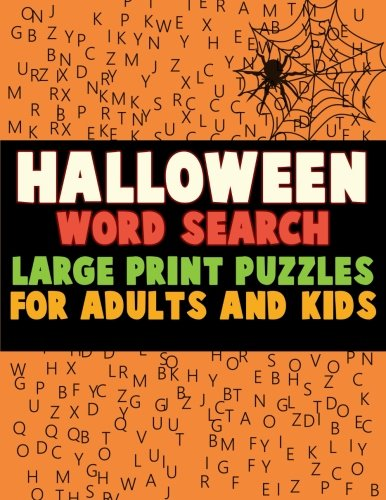 Halloween Word Search: Large Print Puzzles for Adults