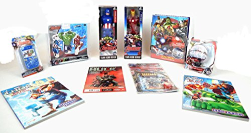 [Marvel Avengers Super Heroes Action Figure Learning 10 pc Gift Set Bundle] (Cave Baby Girl Costumes)