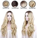 aSulis Natural Long Wavy Wig Dark Roots Ombre