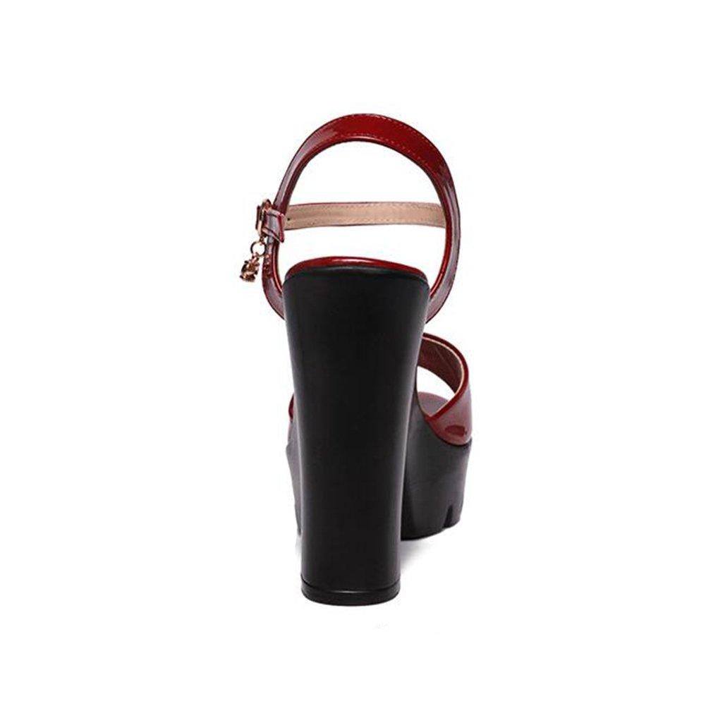 984e25942dbfb Amazon.com: KJJDE Women's Platform Wedge Sandals QNML-8898 ...