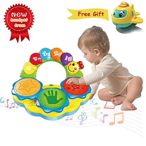 HOMOFY Baby Toys 6 to 12 Months Baby Portable Musical Toys Drums Piano Musical Instrument Early Education Toy Musics/Lights/Funny Sounds Baby Toys for 12 3 4 Year Old Boys Girls Toddlers Kids Toys