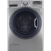 LG TurboWash 4.5 Cu Ft 12-Cycle Front Loading Washer with Steam (Graphite Steel)