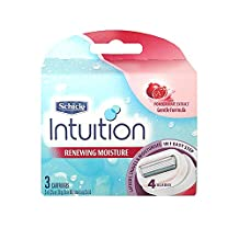 Schick Intuition Renewing Moisture Razor Refill Cartridges, 3 count by Schick