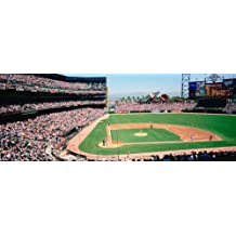 Walls 360 Peel & Stick Baseball Stadium Wall Mural High Angle PacBell Stadium San Francisco (24 in x 9 in)
