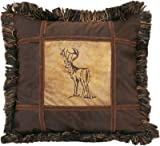 Cheap Carstens Embroidered Buck pillow