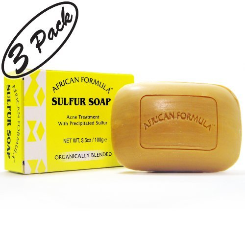 Sulfur Soap Jabon de Azufre (3-PACK) Acne Treatment Facial Soap (3.5oz)