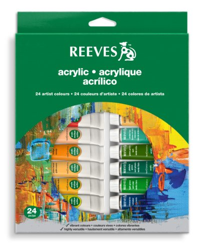 Price comparison product image Reeves 24-Pack Acrylic Colour Tube Set,  10ml