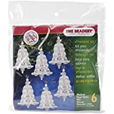 Beadery BOK-7283 Holiday Beaded Ornament Kit, Crystal and Pearl Bell