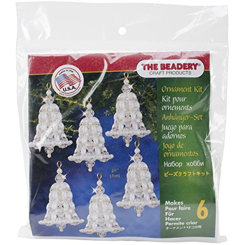- Beadery BOK-7283 Holiday Beaded Ornament Kit, Crystal and Pearl Bell