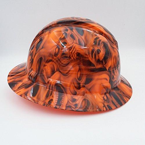 Wet Works Imaging Customized Pyramex Full Brim Orange See No Evil Skulls Hard Hat With Ratcheting Suspension by Wet Works Imaging (Image #2)