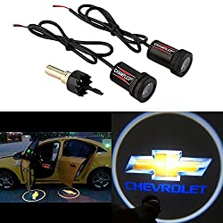 Champled® For Chevrolet Laser Projector Logo Illuminated Emblem Under Door Step Courtesy Light Lighting Symbol Sign Badge Led Glow Car Auto Performance Tuning Accessory