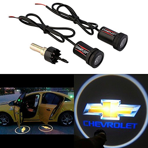 Convertible Stingray (CHAMPLED® For CHEVROLET Laser Projector Logo Illuminated Emblem Under Door Step courtesy Light Lighting symbol sign badge LED Glow Car Auto Performance Tuning Accessory)