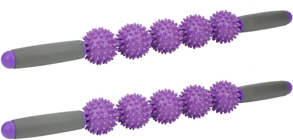 Weikeya Apretado Masaje Palo, Púrpura Músculo Rodillo Palo Desencadenar Puntos Masaje Terapeuta Hombro Dolor Cloruro de polivinilo Hecho