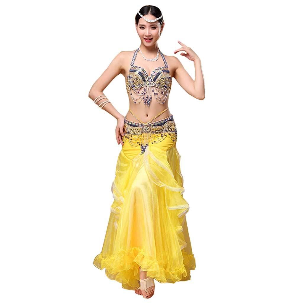 【超目玉】 大人の女性のベリーダンスのパフォーマンス演習服手作りのビーズのブラジャーバッグヒップスカートスーツ s B07PNLTBRT S S s|イエロー s|イエロー いえろ゜ イエロー いえろ゜ S s, クリノチョウ:b618b7b8 --- a0267596.xsph.ru