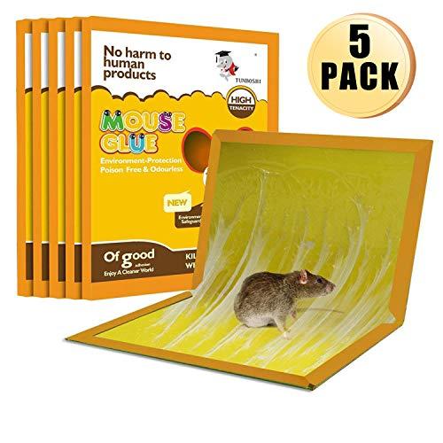 Panamela Mouse Trap,Mouse Rat Glue Boards,Mouse Glue Traps,Mouse Size Glue Traps Sticky Boards Mouse Catcher Mice(5-Pack)