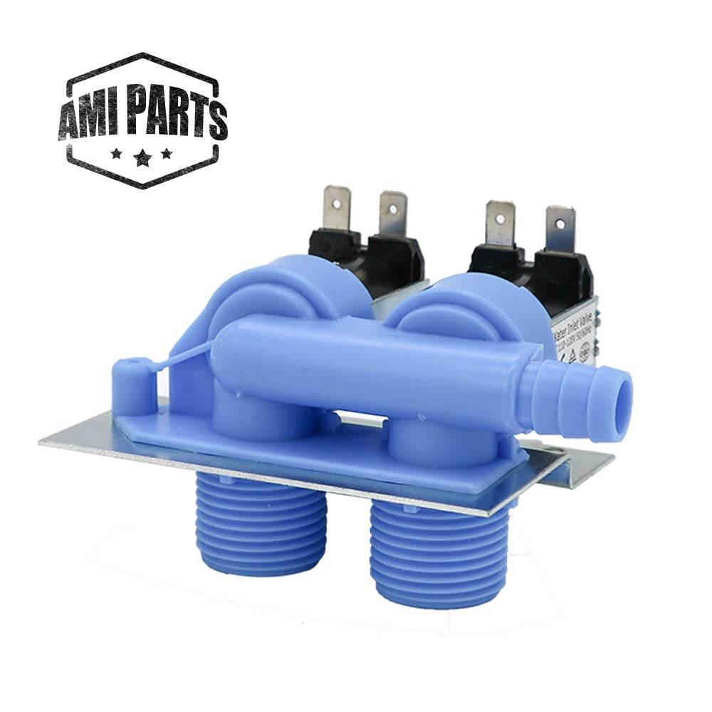 AMI PARTS Washing Machine Water Inlet Valve 285805 with Bracket Exact fit for Whirlpool & Kenmore & Roper