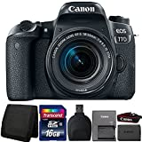 Canon EOS 77D 24.2MP DSLR Camera with 18-55mm IS STM Lens and Accessory Kit