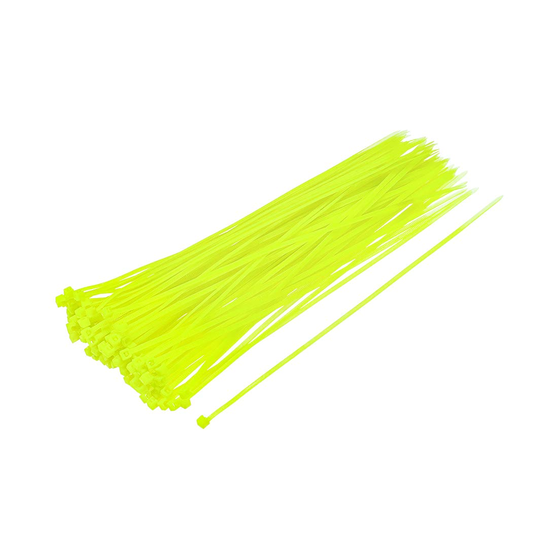 sourcing map Cavo Zip Fascette 200mmx2.5mm Autobloccante Nylon Avvolgi Fluorescente Verde 400pz