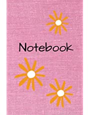 Notebook: pink floral blank lined notebook