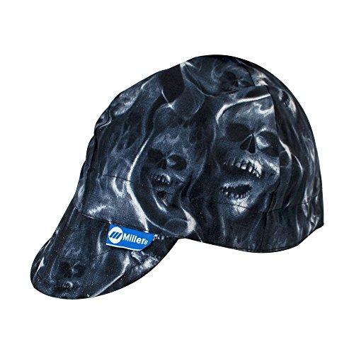 Welding Cap - Miller Genuine Arc Armor Ghost Skulls Welding Cap 7-1/4