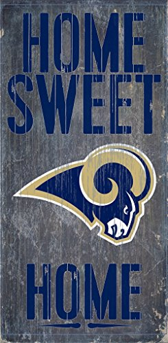 Wood St Louis Rams Football (St. Louis Rams Wood Sign - Home Sweet Home 6''x12'')