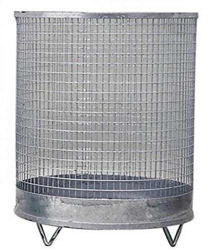 Abfallbehälter 75l H.600xD.400mm verz. Drahtgitter m. 4 Füßen