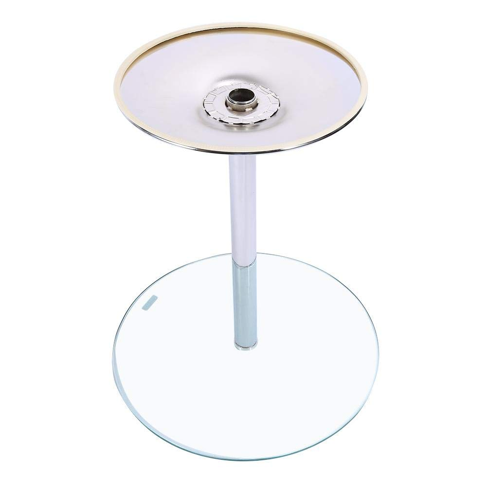 70cm EBTOOLS Tavolo in Vetro Rotondo,Tavolino da caff/è in Vetro,Tavolino//Comodino//Nesting Table,Tavolino in Vetro Trasparente,60