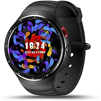 Smart Watch Phone AMOLED Screen Quad Core CPU GSM GPS Pedometer Heart Rate Smartwatch for Android