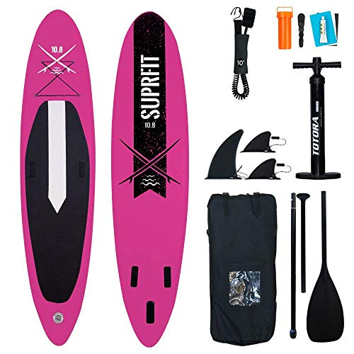 Suprfit Lailani Pink SUP Board I Stand Up Paddle Board I Complete Set: Paddle Board, Transport Bag, Paddle, Air Pump…