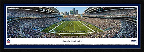 picture of Seattle Seahawks -End Zone at Centurylink Field - Panoramic Print