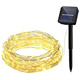 Tools & Hardware : OMorc Solar String Lights,100 LEDs Fairy String Lights,8 Modes,33ft,Copper Wire Lights for Homes, Outdoors, Gardens, Christmas Party Warm White